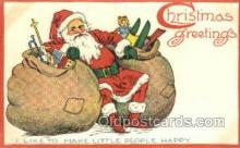 hol003292 - Christmas, Santa Claus Postcard Post card