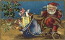 hol003293 - Christmas, Santa Claus Postcard Post card