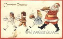 hol003294 - Christmas, Santa Claus Postcard Post card