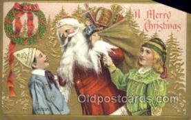 hol003304 - Christmas, Santa Claus Postcard Post card