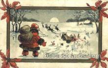 hol003305 - Christmas, Santa Claus Postcard Post card