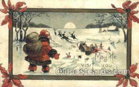 hol003305 - Christmas, Santa Claus Postcard Post card