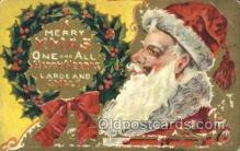 hol003311 - Christmas, Santa Claus Postcard Post card