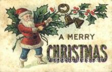 hol003312 - Christmas, Santa Claus Postcard Post card