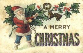 hol003312 - Christmas, Santa Claus Postcard Post card