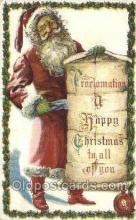 hol003324 - Christmas, Santa Claus Postcard Post card