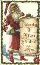 hol003324 - Christmas, Santa Claus Postcard Post card