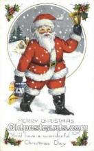 hol003335 - Christmas, Santa Claus Postcard Post card