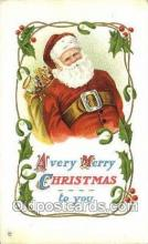 hol003336 - Christmas, Santa Claus Postcard Post card