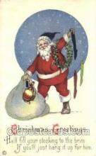 hol003347 - Christmas, Santa Claus Postcard Post card