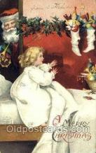 hol003364 - Artist Clapsaddle, Christmas, Santa Claus Postcard Post card