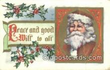 hol003412 - Santa Claus Postcard, Chirstmas Post Card Old Vintage Antique Carte, Postal Postal