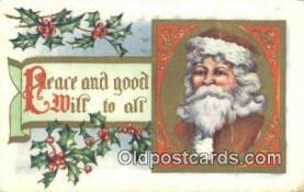 hol003412 - Santa Claus Postcard, Chirstmas Post Card Old Vintage Antique Carte, Postal Postal