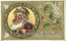 hol003413 - Santa Claus Postcard, Chirstmas Post Card Old Vintage Antique Carte, Postal Postal