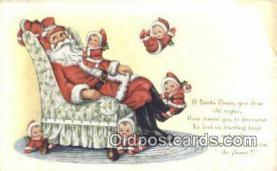 hol003414 - Santa Claus Postcard, Chirstmas Post Card Old Vintage Antique Carte, Postal Postal