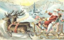 hol003415 - Santa Claus Postcard, Chirstmas Post Card Old Vintage Antique Carte, Postal Postal
