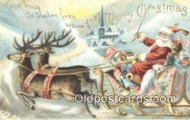 hol003415 - Santa Claus Postcard, Chirstmas Post Card Old Vintage Antique Carte, Postal Postal