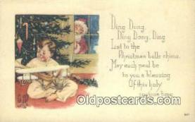 hol003416 - Santa Claus Postcard, Chirstmas Post Card Old Vintage Antique Carte, Postal Postal