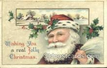 hol003418 - Santa Claus Postcard, Chirstmas Post Card Old Vintage Antique Carte, Postal Postal