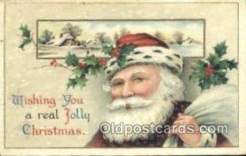hol003418 - Santa Claus Postcard, Chirstmas Post Card Old Vintage Antique Carte, Postal Postal
