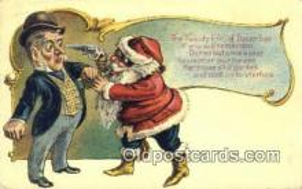 hol003419 - Santa Claus Postcard, Chirstmas Post Card Old Vintage Antique Carte, Postal Postal