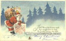 hol003420 - Santa Claus Postcard, Chirstmas Post Card Old Vintage Antique Carte, Postal Postal
