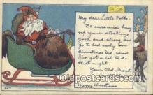 hol003424 - Santa Claus Postcard, Chirstmas Post Card Old Vintage Antique Carte, Postal Postal