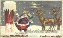 hol003425 - Santa Claus Postcard, Chirstmas Post Card Old Vintage Antique Carte, Postal Postal