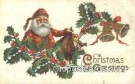 hol003426 - Santa Claus Postcard, Chirstmas Post Card Old Vintage Antique Carte, Postal Postal