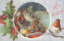 hol003430 - Santa Claus Postcard, Chirstmas Post Card Old Vintage Antique Carte, Postal Postal