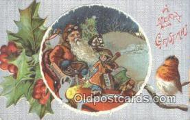 hol003430 - Santa Claus Postcard, Chirstmas Post Card Old Vintage Antique Carte, Postal Postal