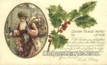 hol003432 - Santa Claus Postcard, Chirstmas Post Card Old Vintage Antique Carte, Postal Postal