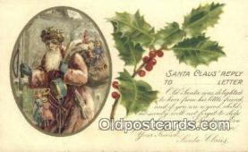 hol003432 - Santa Claus Postcard, Chirstmas Post Card Old Vintage Antique Carte, Postal Postal