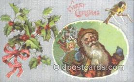 hol003433 - Santa Claus Postcard, Chirstmas Post Card Old Vintage Antique Carte, Postal Postal