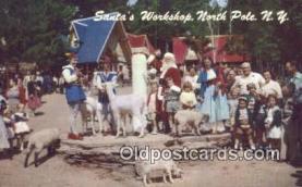 hol003437 - North Pole New York, USA Santa Claus Postcard, Chirstmas Post Card Old Vintage Antique Carte, Postal Postal