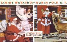 hol003439 - North Pole New York, USA Santa Claus Postcard, Chirstmas Post Card Old Vintage Antique Carte, Postal Postal