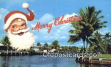 hol003443 - Florida Greeting Santa Claus Postcard, Chirstmas Post Card Old Vintage Antique Carte, Postal Postal