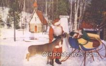 hol003444 - Wilmington, NY, USA Santa Claus Postcard, Chirstmas Post Card Old Vintage Antique Carte, Postal Postal