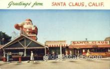 hol003445 - Santa Claus, California USA Santa Claus Postcard, Chirstmas Post Card Old Vintage Antique Carte, Postal Postal