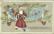 hol003448 - Santa Claus Postcard, Chirstmas Post Card Old Vintage Antique Carte, Postal Postal