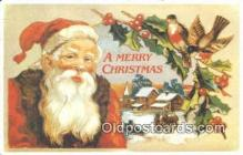 hol003449 - Santa Claus Postcard, Chirstmas Post Card Old Vintage Antique Carte, Postal Postal