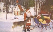 hol003450 - Wilmington, NY, USA Santa Claus Postcard, Chirstmas Post Card Old Vintage Antique Carte, Postal Postal