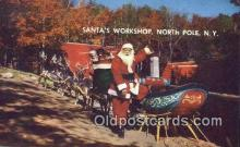 hol003454 - North Pole New York, USA Santa Claus Postcard, Chirstmas Post Card Old Vintage Antique Carte, Postal Postal