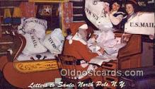 hol003458 - North Pole New York, USA Santa Claus Postcard, Chirstmas Post Card Old Vintage Antique Carte, Postal Postal