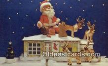 hol003460 - Santa Claus Postcard, Chirstmas Post Card Old Vintage Antique Carte, Postal Postal