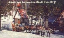 hol003461 - North Pole New York, USA Santa Claus Postcard, Chirstmas Post Card Old Vintage Antique Carte, Postal Postal
