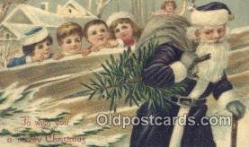 hol003465 - Santa Claus Postcard, Chirstmas Post Card Old Vintage Antique Carte, Postal Postal