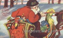 hol003467 - Santa Claus Postcard, Chirstmas Post Card Old Vintage Antique Carte, Postal Postal