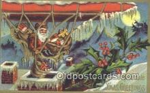 hol003468 - Santa Claus Postcard, Chirstmas Post Card Old Vintage Antique Carte, Postal Postal