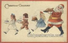 hol003470 - Santa Claus Postcard, Chirstmas Post Card Old Vintage Antique Carte, Postal Postal